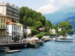 Tremezzo 'Lungo Lago' promenade forms the end of the Greenway Walk