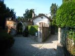 Entrance to Villa Rachele on the Greenway Walk along the ancient Roman road Via dei Plini