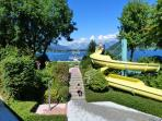 pools and flumes at Zell am see beach