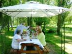 PIcnics and BBQ's by the river without leaving the property