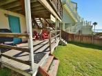 Soak up the sun in this beach-facing deck!