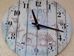 Beach-Themed Clock