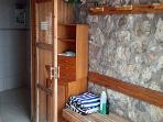 Entrance to sauna's shower room
