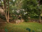 View on the garden in front of the house and view on the houwe next-door.