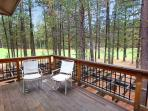 Deck overlooking golf course off upper master bedroom