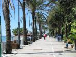 The Paseo that runs along past the apartment block and finishes in Puerto Banus.