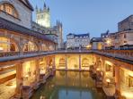 The Roman Baths. Just a 5 minute walk away.