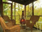 Gas log Chiminea Fireplace