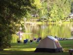 Make lakeside memories by pitching a tent and sleeping under the stars...