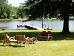 A great place to relax by the lake, under the shade tree or around the fire ring...