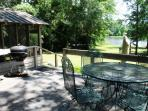 The Cottage deck...a great place for chillin and grillin...