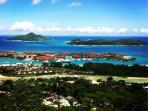 View on Eden Island from top of the Island Mahe.