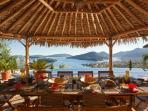 The Bali Estate in Lefkada, Greece; Al Fresco Greek Island View Luxury Dining