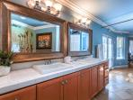 Gorgeous master bathroom. Compare our quality, size and rates with ANY other Avalon rental.