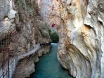 Nearby: the spectacular Saklikent Gorge, 2nd largest in europe.  Accessed by a narrow foot path