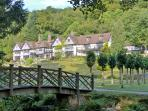 Gidleigh Park Hotel a short stroll up the lane. Perfect for lunch or dinner.