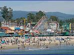 Santa Cruz Beach boardwalk is a 5 minute drive away