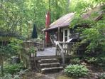 Enjoy summer afternoons relaxing on the deck listening to the creek, reading a book or grilling out.