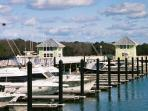 Bay Creek Marina, shops and a great waterfront restaurant open to the public.