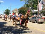 Fourth of July Parade down Mason Avenue in Cape Charles. Old-fashioned fun!
