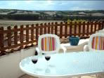 Sunny rooftop terrace with internal access and captivating views over the Lizonne River Valley
