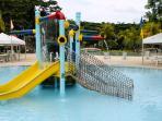 The Eagle Ridge sport clubhouse includes a kids swim/play area.