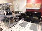 Fully furnished kitchen cook up to 100 guests