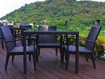 Terrace seating with Mountain and sea view!