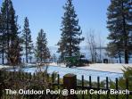 The outdoor pool at Burnt Cedar Beach is open in the summer!