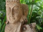 wooden bouddha  totem