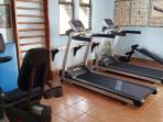 Our Palace Gym has all new Life Fitness Machines - 2 Treadmills, Bike and more..