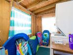Laundry Room and Beach Toys Storage