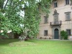 The main facade of Villa Di Lupo Parra