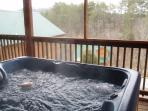 Oversized hot tub - room for 7