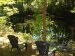 Bring your fishing gear to enjoy the pond.