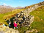 Exploring the Roman ruins of Hardknott Fort