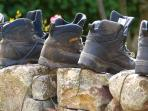 Air out your walking boots on our pink granite dry stone walls after a day on the fells!