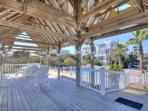 Beach front covered deck