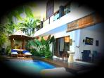 Cool paradise! Where you come back each day after your adventure to cool down in and around the pool