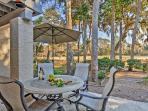 Enjoy the outdoors from the new patio furniture.