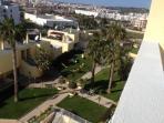 View towards the Lagos city from balcony