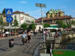 The pedestrian Street just outside the apartment