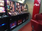 Adult play area!  Slot machines.