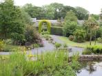 The walled garden for guests to use in Blair Cottage.