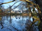 The Hawn at Dunster Beach with Salad Days in the background