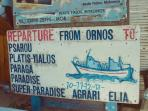 Ornos sea taxi timetable