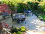 Lovely patio area in the enclosed part of the garden