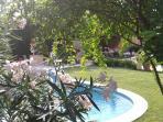 La piscine et vue sur la tonnelle