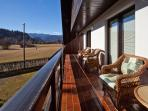 Mountain view balcony