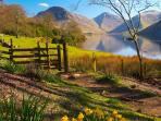 Wastwater, England's deepest lake, a pleasant walk away!